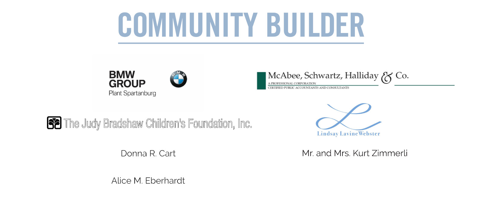 Community Builder Sponsorship