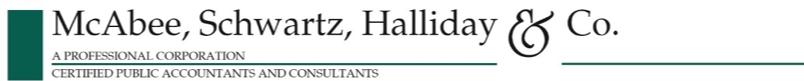 McAbee, Schwartz, Halliday & Co. logo