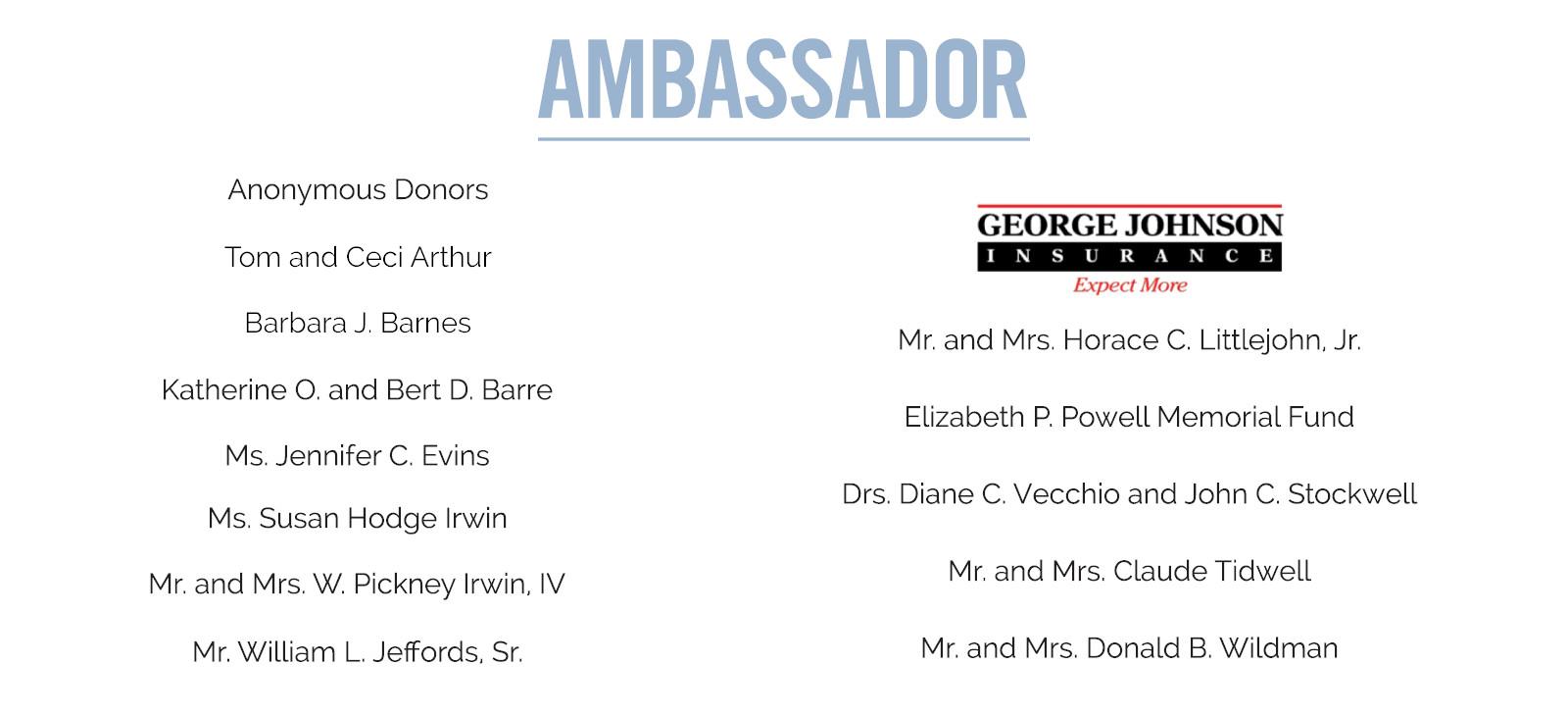 Ambassador Sponsorship